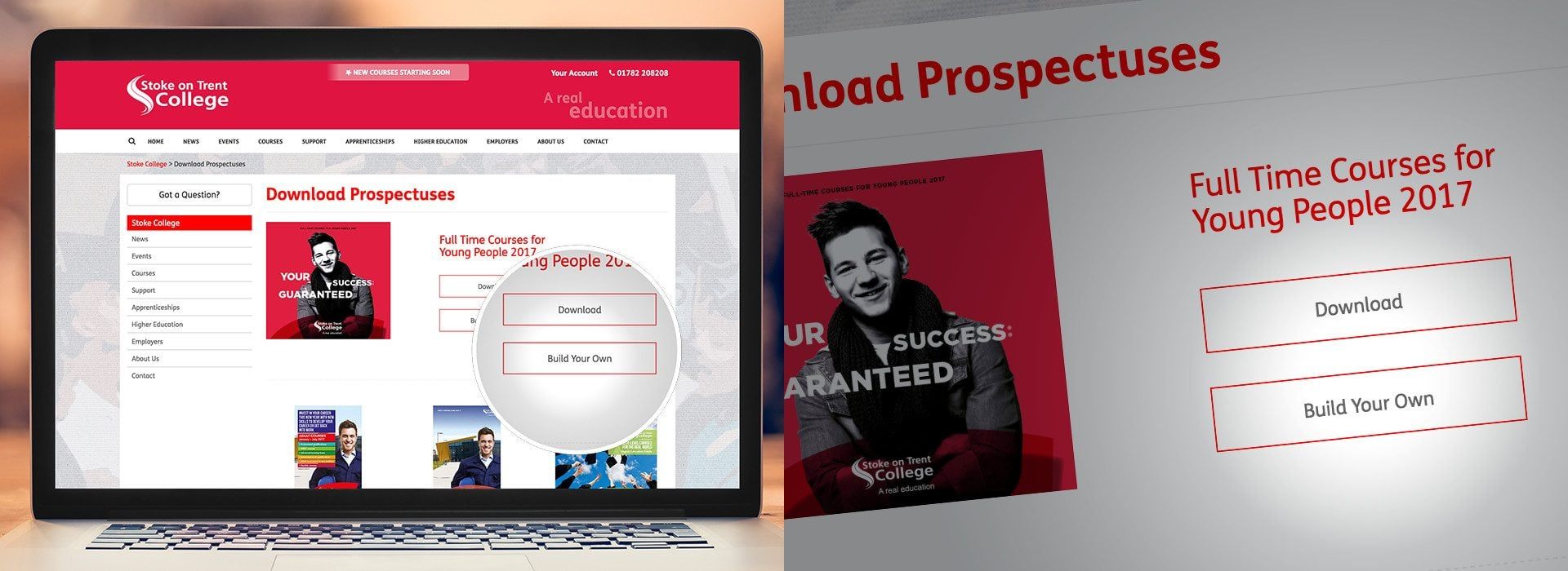 Stoke-on-Trent College - develop a digital prospectus