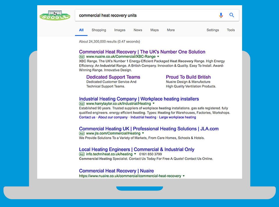 b2b paid search example